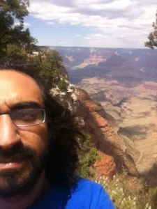 Half of my face and the Grand Canyon.